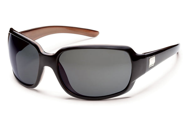 Suncloud - Cookie Black Backpaint Sunglasses, Gray Polarized Lenses
