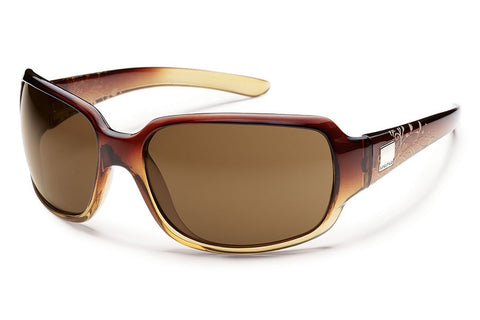 Suncloud - Cookie Brown Fade Laser Sunglasses, Brown Polarized Lenses