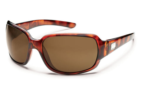 Suncloud Causeway White Sunglasses, Brown Polarized Lenses