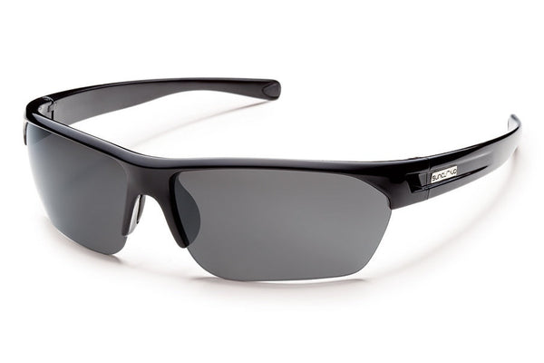 Suncloud - Detour Black Sunglasses, Gray Polarized Lenses
