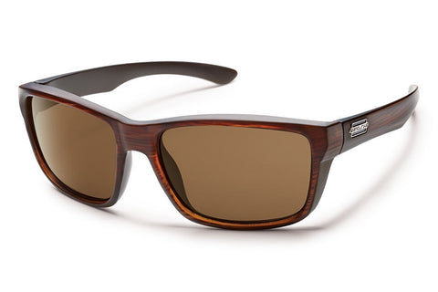 Suncloud Mayor Burnished Brown Sunglasses, Brown Polarized Lenses