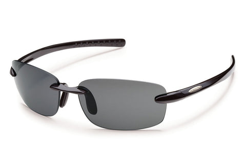 Suncloud - Momentum Black Sunglasses, Gray Polarized Lenses