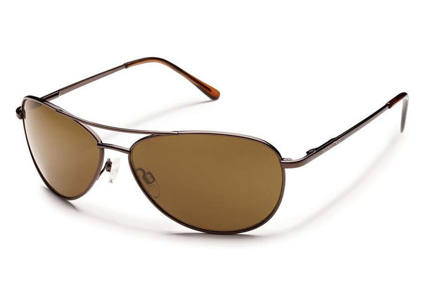 Suncloud - Patrol Brown Sunglasses, Brown Polarized Lenses