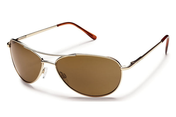 Suncloud - Patrol Gold Sunglasses, Brown Polarized Lenses