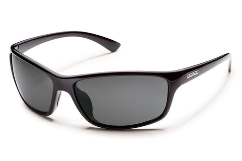 Suncloud - Sentry Black Sunglasses, Gray Polarized Lenses