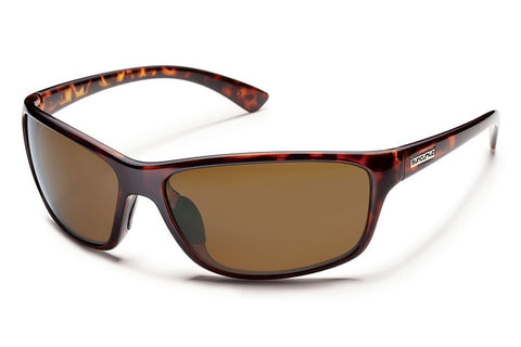 Suncloud - Sentry Tortoise Sunglasses, Brown Polarized Lenses