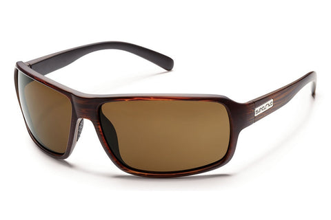 Suncloud - Tailgate Burnished Brown Sunglasses, Brown Polarized Lenses