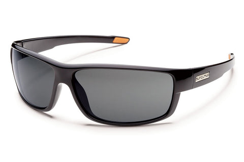 Suncloud - Voucher Black Sunglasses, Gray Polarized Lenses