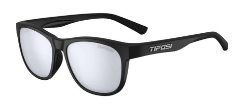 Tifosi - Swank Satin Black Sunglasses / Smoke Bright Blue Lenses