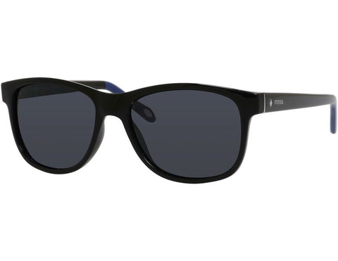 Fossil - 3037  Black  Sunglasses / Gray Polarized  Lenses
