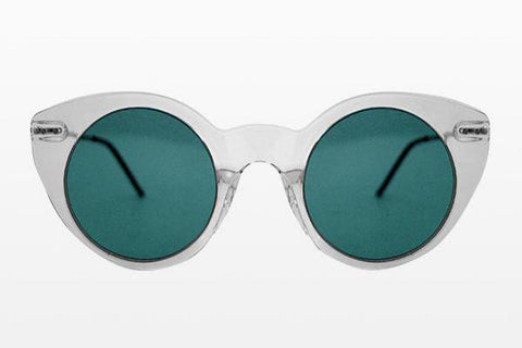 Spitfire - Super Symmetry Clear Sunglasses / Turquoise Lenses