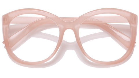 The Book Club - Love in the Time of a Dollar 55mm Rose Eyeglasses / Screen Blue Light Clear +2.00 Lenses
