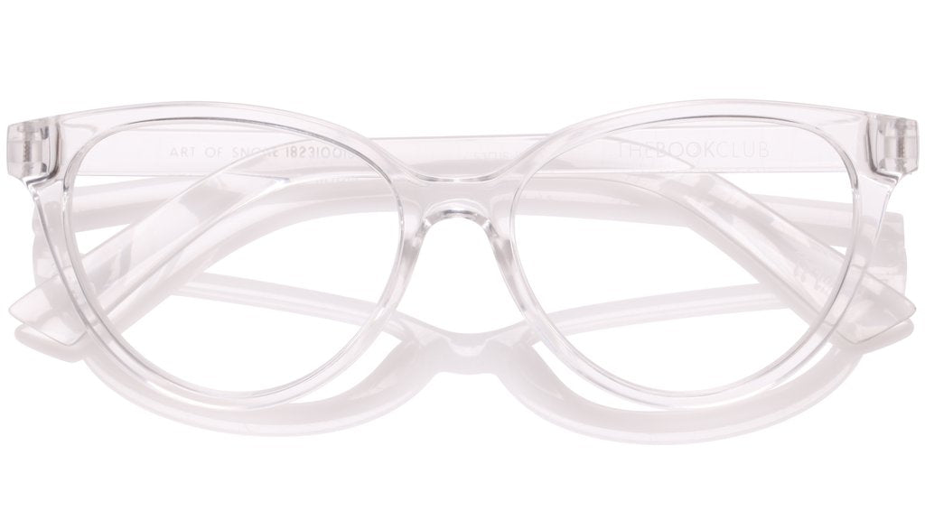 The Book Club - The Art of Snore 53mm Cellophane Eyeglasses / Screen Blue Light Clear +0.00 Lenses