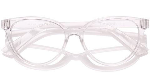 The Book Club - The Art of Snore 53mm Cellophane Eyeglasses / Screen Blue Light Clear +3.00 Lenses