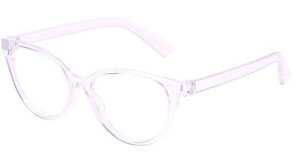 The Book Club - The Art of Snore 53mm Cellophane Eyeglasses / Screen Blue Light Clear +1.00 Lenses