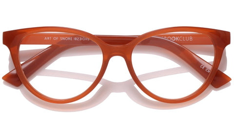 The Book Club - The Art of Snore 53mm Saffron Eyeglasses / Screen Blue Light Clear +2.50 Lenses