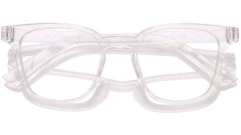 The Book Club - Twelve Hungry Bens 49mm Cellophane Eyeglasses / Screen Blue Light Clear +0.00 Lenses