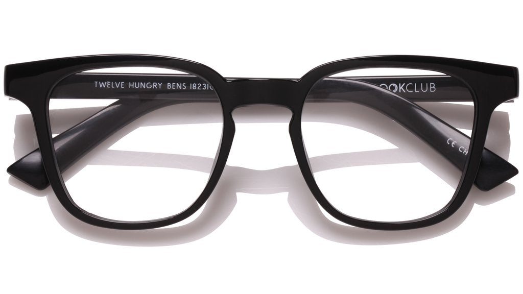 The Book Club - Twelve Hungry Bens 49mm Marker Black Eyeglasses / Screen Blue Light Clear +0.00 Lenses