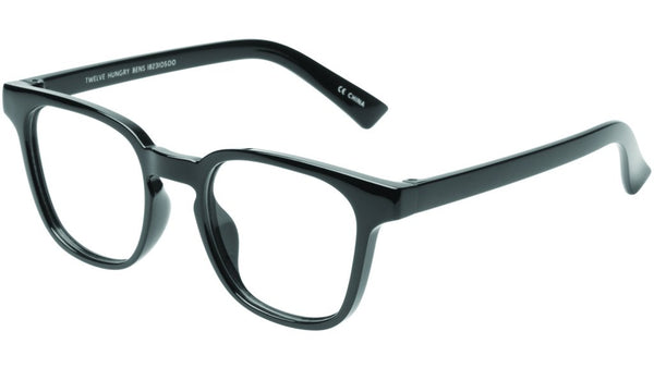 The Book Club - Twelve Hungry Bens 49mm Marker Black Eyeglasses / Screen Blue Light Clear +2.50 Lenses