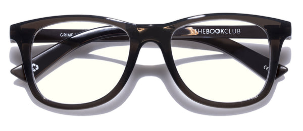 The Book Club - Grime in Banishment 52mm Black Eyeglasses / Screen Blue Light Clear +0.00 Lenses