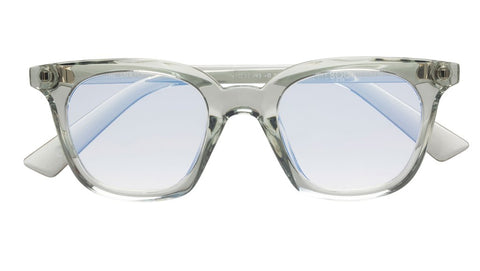 The Book Club - Snatcher in Black Tie 47mm Sea Spray Eyeglasses / Screen Blue Light Clear +2.00 Lenses