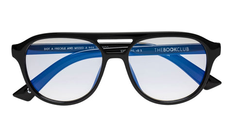 The Book Club - Harlots Bed 51mm Deep Purple Eyeglasses / Screen Blue Light Clear +2.50 Lenses