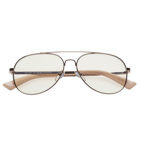 The Book Club - The Fart Of The Eel 57mm Rose Gold Eyeglasses / +0.0 Lenses