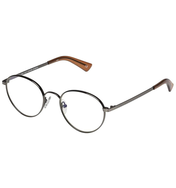 The Book Club - They Got Farther +2.00 Antique Gunmetal Eyeglasses / Clear Lenses