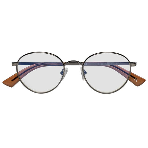 The Book Club - They Got Farther Antique Gunmetal Eyeglasses / Clear Lenses