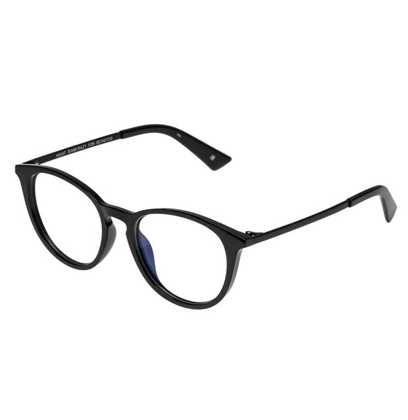 The Book Club - Night Team Crazy For +1.50 Black Eyeglasses / Clear Lenses