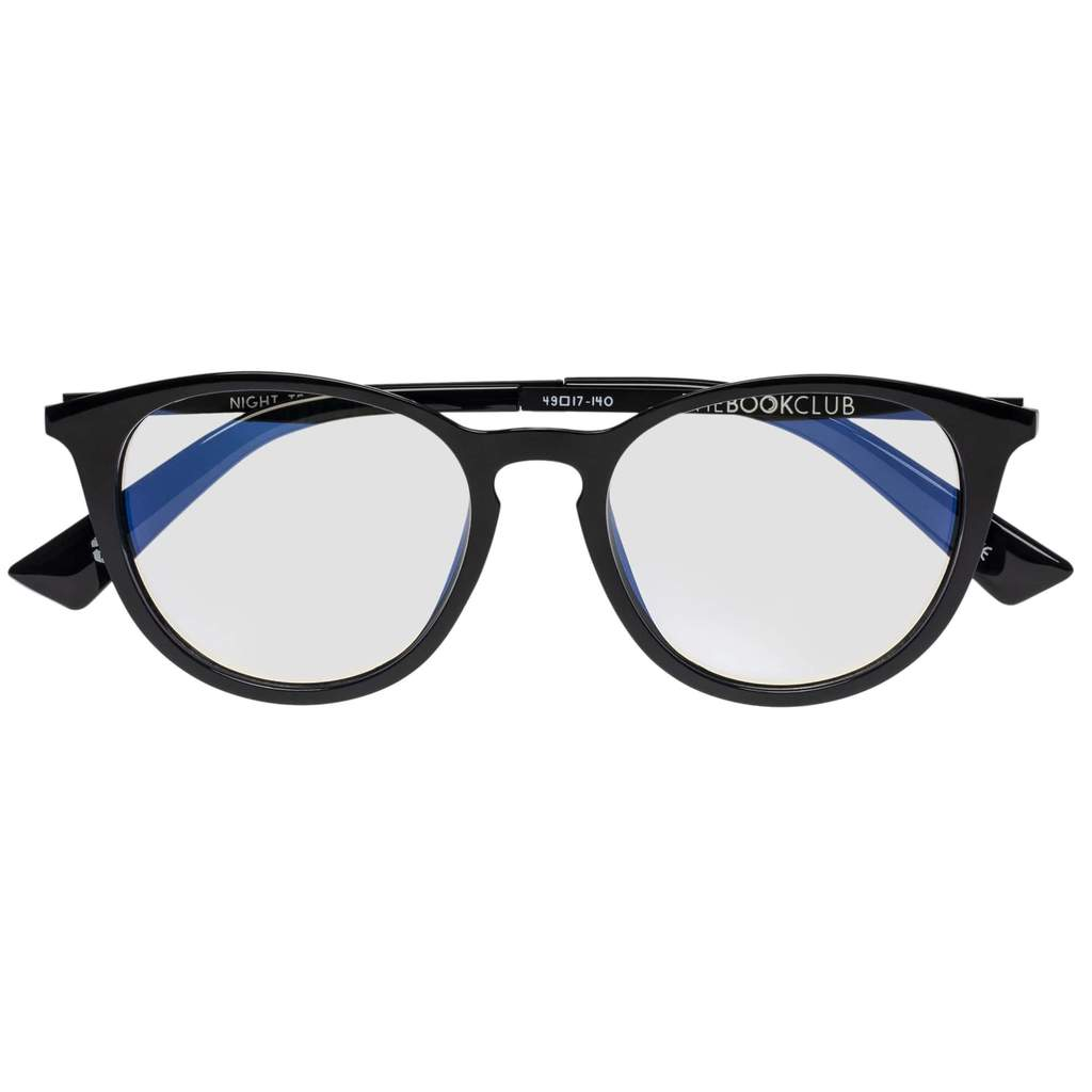 The Book Club - Night Team Crazy For +3.00 Black Eyeglasses / Clear Lenses