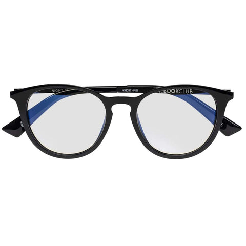 The Book Club - Grime in Banishment 52mm Black Eyeglasses / Screen Blue Light Clear Lenses