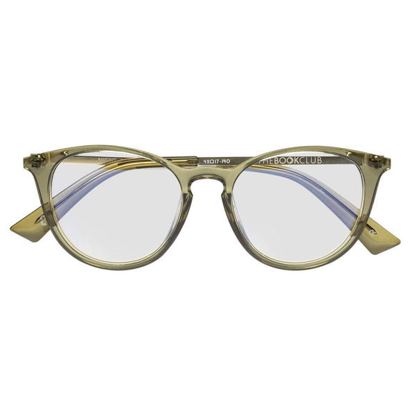 The Book Club - Night Team Crazy For +2.50 Crystal Olive Eyeglasses / Clear Lenses