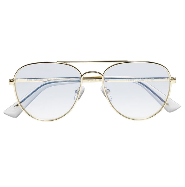 The Book Club - Hard Crimes Gold Reading Glasses / Clear Lenses
