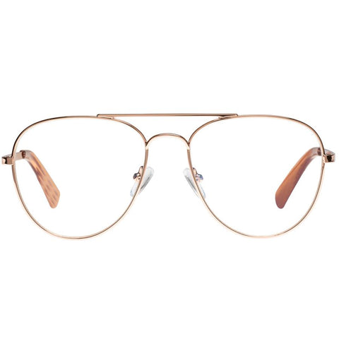 The Book Club - Hard Crimes Rose Clay Reading Glasses / Blue Light +1.00 Lenses