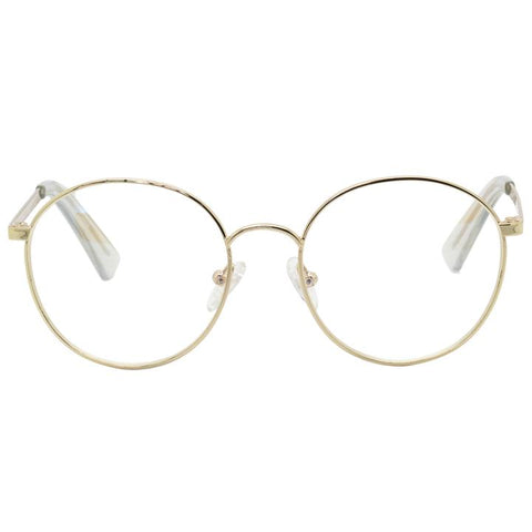 The Book Club - Bothering Sights Gold Eyeglasses / Blue Light Lenses