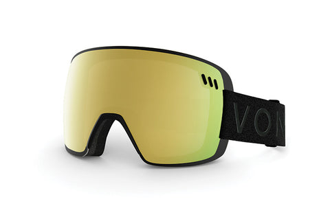 VonZipper - ALT XM Black Snow Goggles / Gold Chrome Lenses