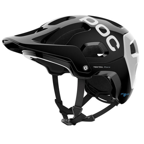 POC - Tectal Race SPIN Medium-Large Uranium Black + Hydrogen White Bike Helmet