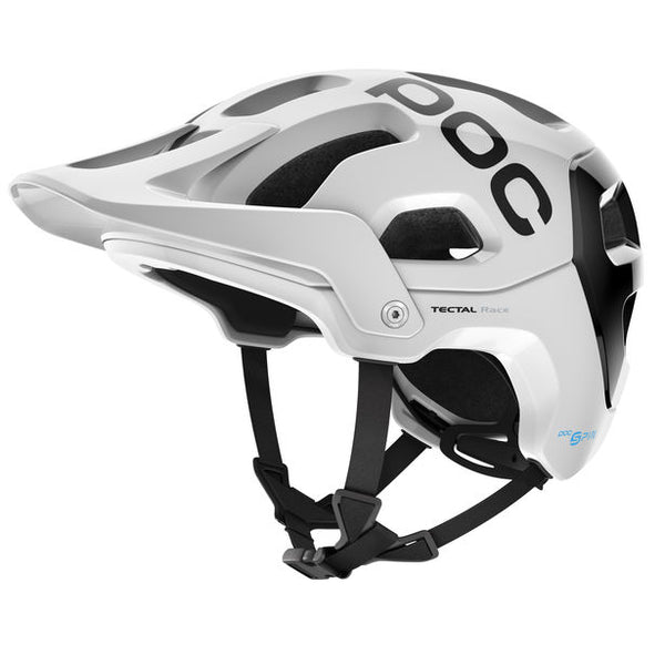 POC - Tectal Race SPIN Medium-Large Hydrogen White + Uranium Black Bike Helmet