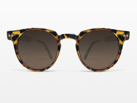 Spitfire - Teddy Boy Tortoise Shell Sunglasses, Brown Lenses