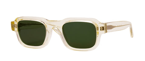 Thierry Lasry - Enfants Riches Deprimes Champagne Clear Sunglasses / Green Lenses