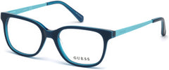 Guess - GU9175 Shiny Blue Eyeglasses / Demo Lenses