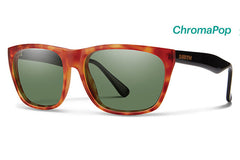 Smith - Tioga Matte Honey Tortoise / Black Sunglasses, ChromaPop Polarized Gray Green Lenses