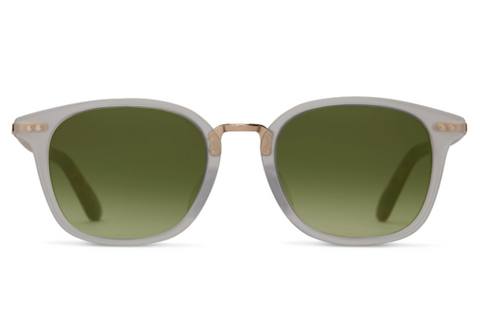 TOMS Barron Vintage Crystal Sunglasses, Glass Bottle Green Lenses