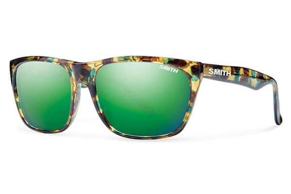 Smith - Tioga Flecked Green Tortoise Sunglasses, Green Sol-X Lenses