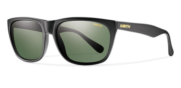 Smith - Tioga Matte Black Sunglasses, Gray Green Polarized Lenses