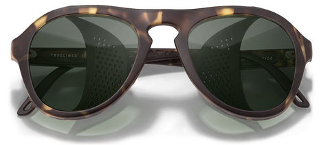 Sunski - Treeline Tortoise Forest Sunglasses / Green Lenses