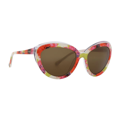 Trina Turk - Amalfi 55mm Garden Sunglasses / Brown Lenses