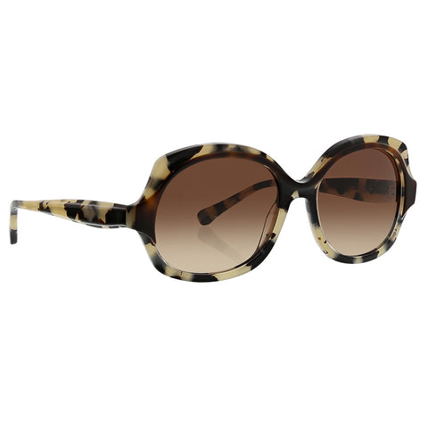 Trina Turk - Catalonia 55mm Ivory Tortoise Sunglasses / Brown Gradient Lenses