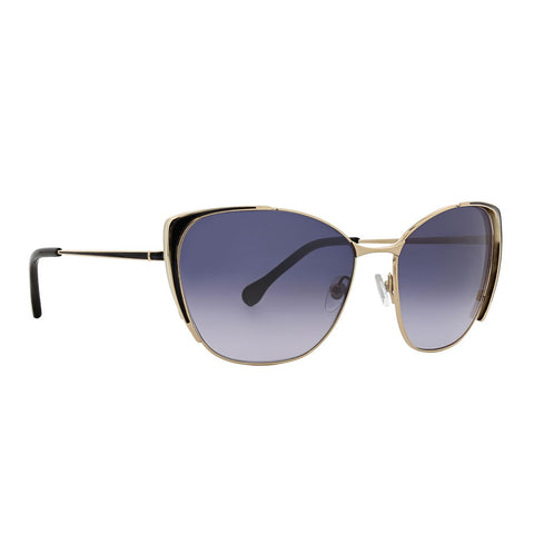 Trina Turk - Ikara 58mm Black Sunglasses / Blue Gradient Lenses